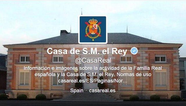 Twitter oficial de la Casa de S.M. El Rey