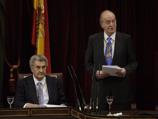 El Rey, Con El Presidente Del Congreso, Jesús Posada