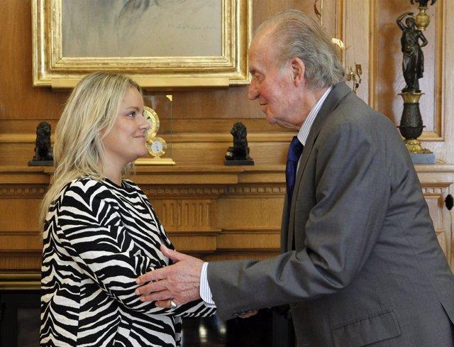 El Rey recibe a Mari Mar Blanco en el Palacio de la Zarzuela