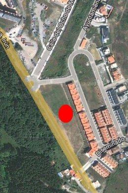 Parcela donde se pretende ubicar el Centro La Raqueta