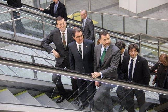 El Príncipe y el alcalde de Girona en un acto de 2013 (Archivo)