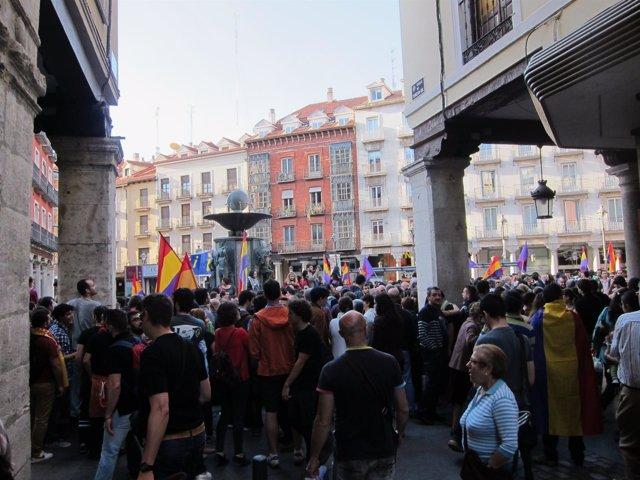 Imagen de la plaza de Fuente Dorada, donde se ha celebrado la concentración