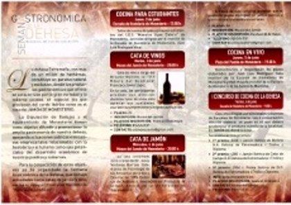 Concursos y talleres en la Semana Gastronómica de la Dehesa en Monesterio
