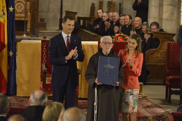 Tarsicio de Azcona con los los Príncipes de Asturias.
