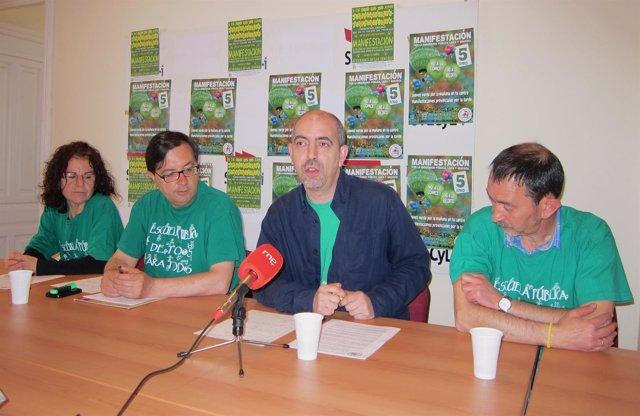 Desde izq, Rosa Mª Carnicero, César Arenas, Jesús Goicoechea y Pedro Escolar