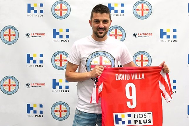David Villa con el Melbourne City
