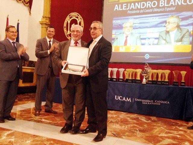 Alejandro Blanco, homenajeado en Murcia