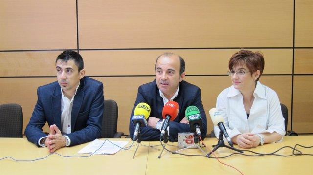 Rubén Serna, Pedro López y Esther Herguedas