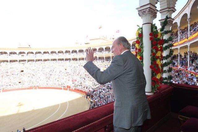 El Rey, ovacionado en la corrida de toros de Las Ventas