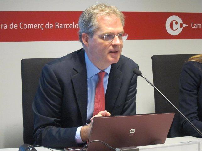 El jefe de Estudios Económicos de la Cámara de Barcelona, J.R.Rovira