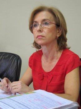 Encarnación Rivas en el Parlamento.