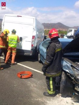 Accidente múltiple en la A-7 en Benavites