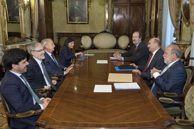 Reunión de coordinación entre el Gobierno foral y el Ministerio Fiscal