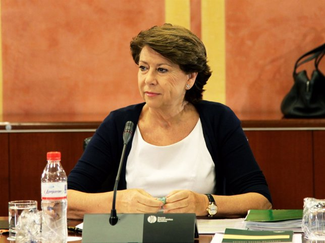 Magdalena Álvarez antes de su comparecencia parlamentaria por el caso ERE