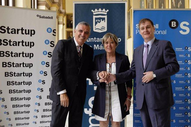 Proyecto Tándem Ayto de Málaga concejala Ana Navarro y Banco Sabadell