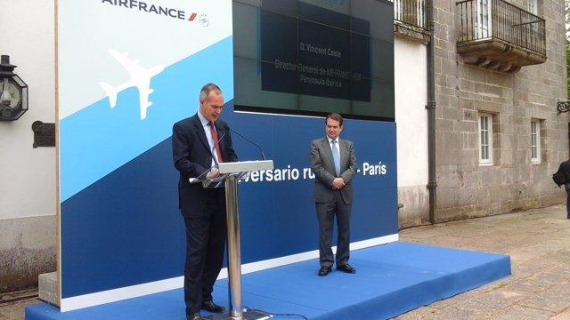 Acto de Air France en Vigo