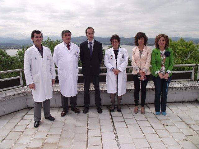 El delegado del Gobierno visita el hospital Santa Clotilde