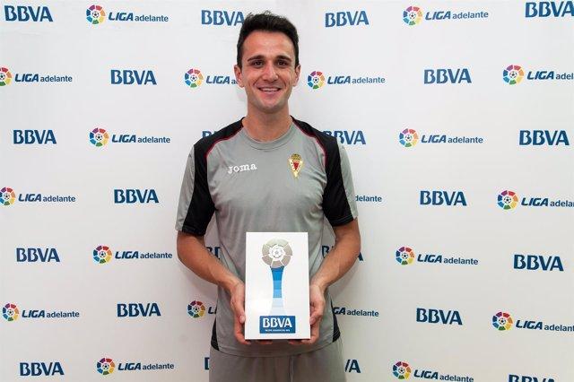Kike García, jugador del Real Murcia