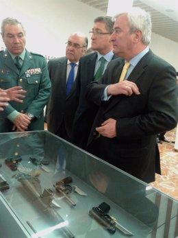 Inauguración de la exposición 'La Guardia Civil frente al terrorismo. Por la lib