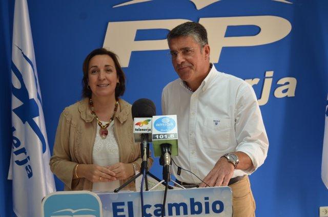 Ana Corredera y José Alberto Armijo PP