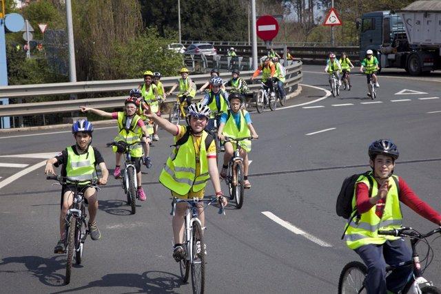 Escolares en bici