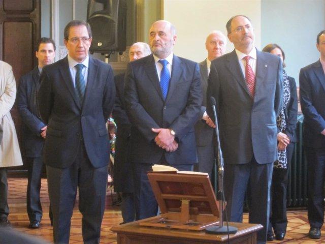 Los tres miembros de la Sindicatura de Cuentas en el acto de toma de posesión.