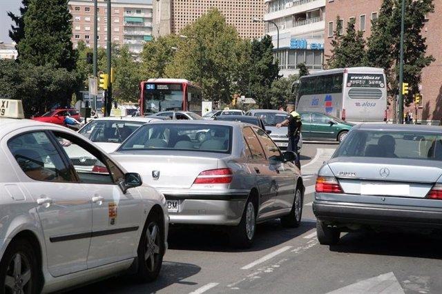Tráfico en Zaragoza.