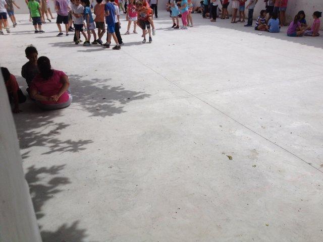 Patio del colegio 'Almadén' de Jaén
