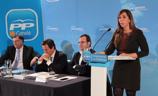 A.Sánchez-Camacho junto a Carlos Floriano, Antoni Bosch y Alberto Villagrasa
