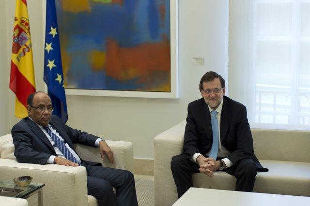 Mariano Rajoy y el ministro de Asuntos Exteriores de Mauritania