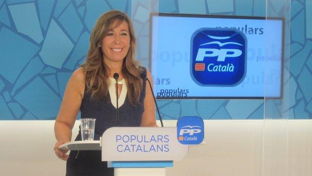 La presidenta del PP catalán, Alícia Sánchez-Camacho.