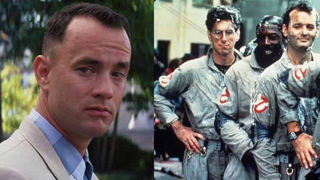Tom Hanks como Forrest Gump y Los cazafantasmas