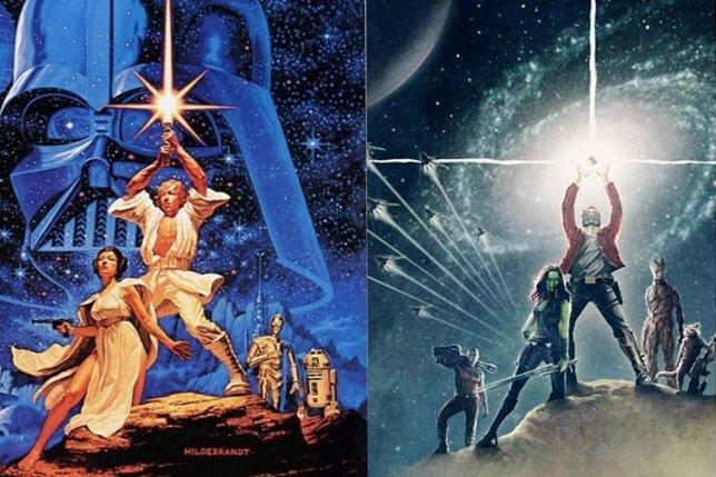 Posters de Star Wars y Guardianes de la galaxia