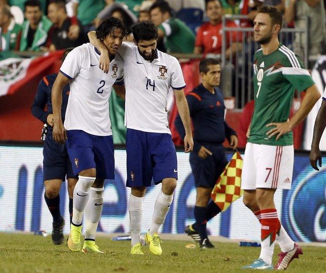 México Portugal amistoso Bruno Alves Luis Neto Miguel Layún