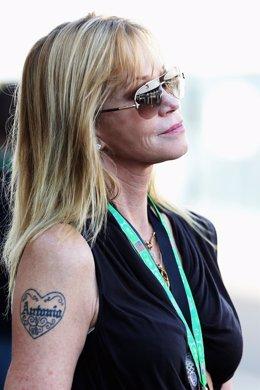 Melanie Griffith con el nombre tatuado de Antonio Banderas