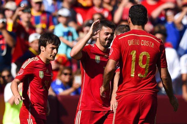 España se impone a El Salvador antes del Mundial