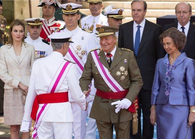 El rey más natural que nunca con los Príncipes de asturia