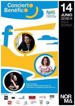 Cartel concierto FARO con Alex Ubago