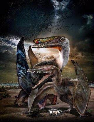 Recrreación artística de un Hamipterus