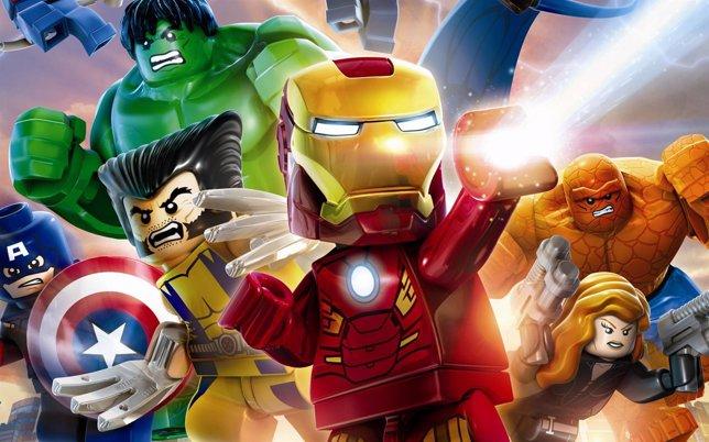 Héroes de Marvel hechos de Lego