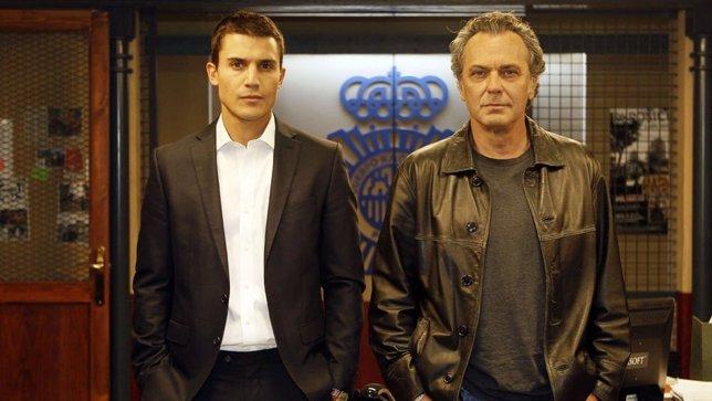 José Coronado y Alex González en la serie El Principe
