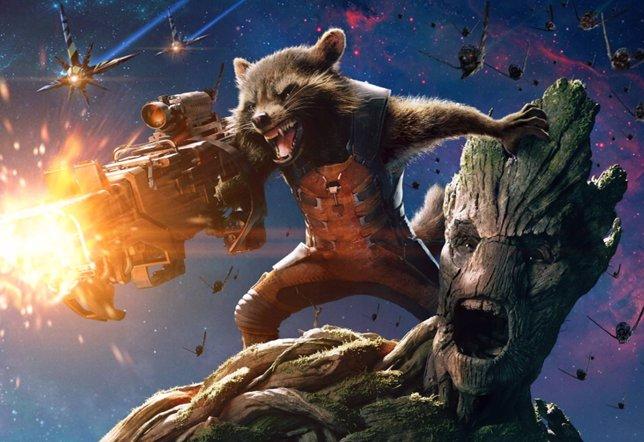 Rocket y Groot en Guardianes de la galaxia