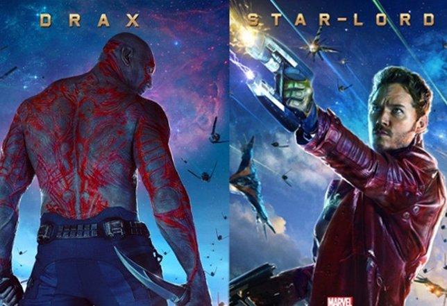 Drax y Star-Lord en Guardianes de la Galaxia