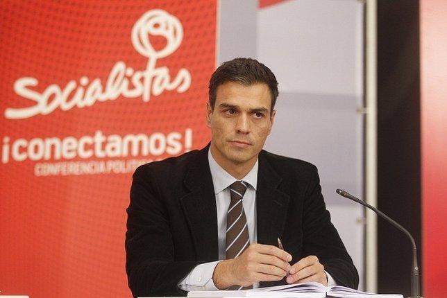 El diputado del PSOE Pedro Sánchez