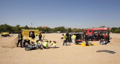 Mas de 500 profesionales participan en un simulacro de emergencia grave por accidente de tráfico múltiple
