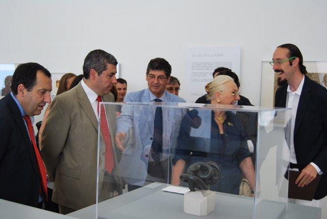 Valderas en la inauguración del Centro Agua y Arte Contemporáneo Miguel Berrocal
