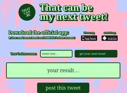 ¿Te da pereza escribir en Twitter?: esta 'app' tuitea por ti