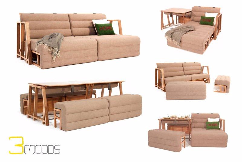 Un dise ador valenciano crea un mueble transformable en - Mesas comedor para espacios pequenos ...