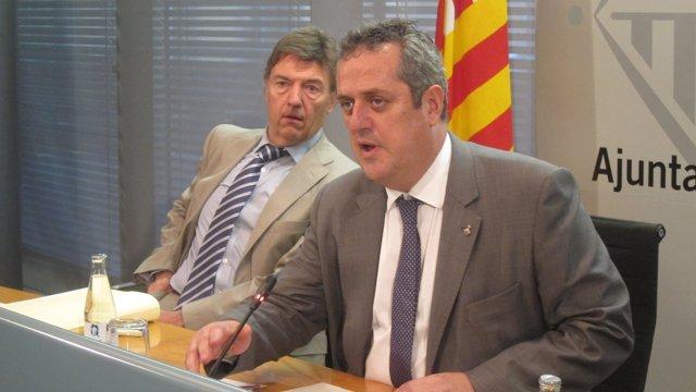Joaquim Forn (teniente alcalde Barcelona) Joan Delort (gerente de Prevención)