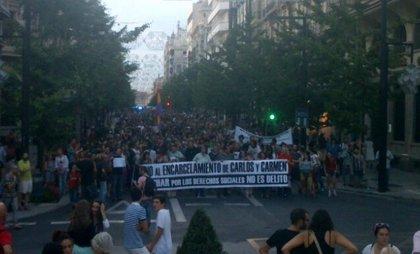Más de 3.000 personas piden suspender el ingreso en prisión de Carlos y Carmen